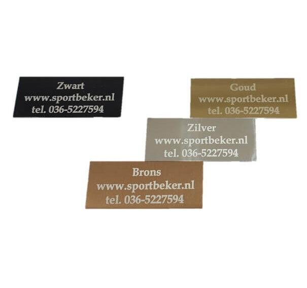 Graveerplaatje goud zilver brons zwart lasergravure w