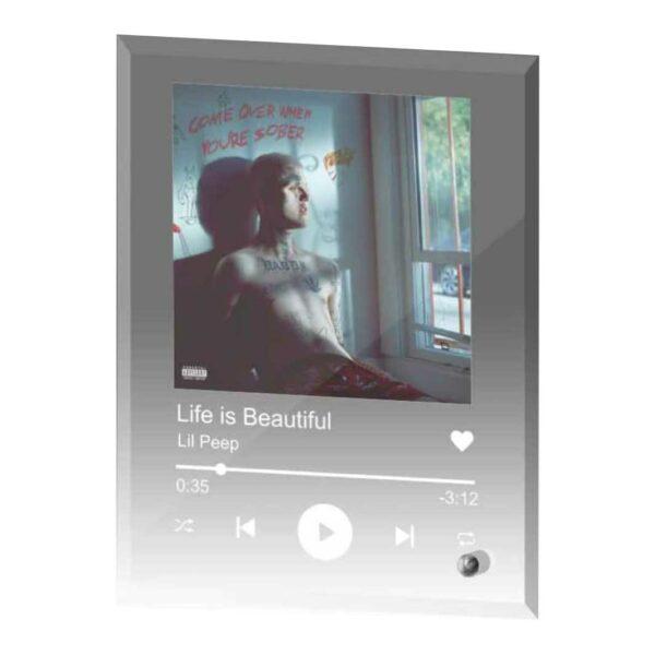 Spotify op glas